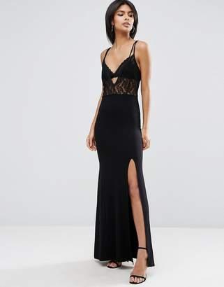 Asos Lingerie Lace Top Maxi Dress