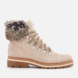 89a224262 Sam Edelman Women s Bowen Velutto Suede Hiker Style Boots - Grey