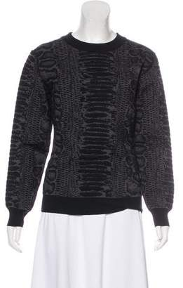 Lanvin Snakeskin Print Knit Sweater w/ Tags