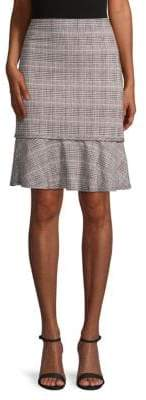 Max Studio Printed Ruffled Skirt