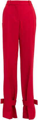 Victoria Beckham Red Wrapped Ankle Trousers