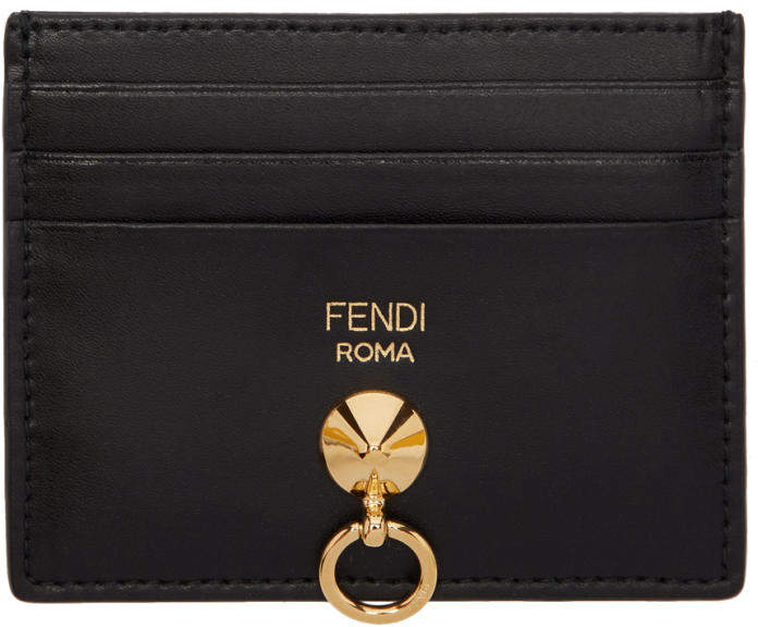 Fendi Black Rainbow Card Holder