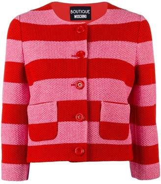 Moschino striped cropped jacket