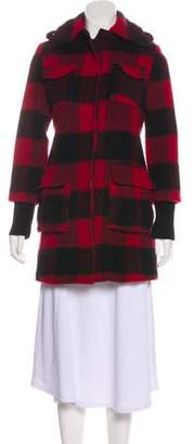 Alice + Olivia Wool Plaid Coat
