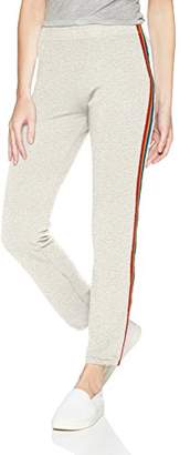 Monrow Women's Supersoft Elastic Waist Sweat w/Rainbow Stripes