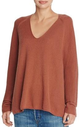 Vince Deep V-Neck Cashmere Sweater $345 thestylecure.com