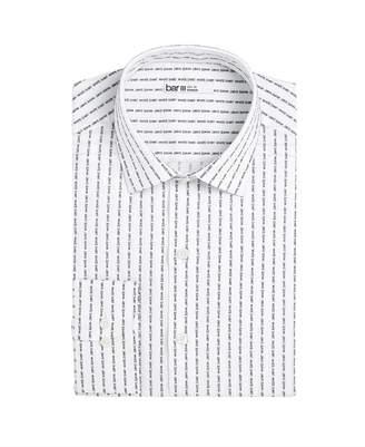 Bar III Men's Slim-Fit Stretch Text Stripe Dress Shirt
