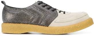 Comme des Garcons velour lace-up shoes