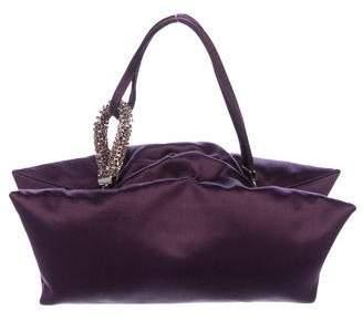 Alberta Ferretti Satin Evening Bag