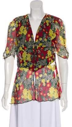 Anna Sui Floral Print Top