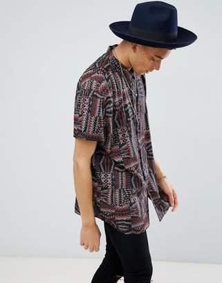 Asos Design Regular Fit Aztec Print Shirt