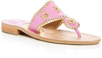 Jack Rogers Women's Hollis Leather Thong Sandals