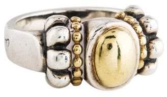 Lagos Two-Tone Caviar Ring