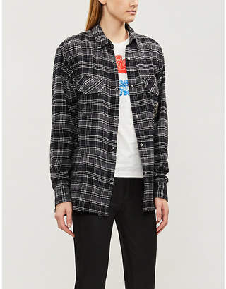 8b44c0b5117 The Kooples Plaid fleur de lys cotton-flannel shirt