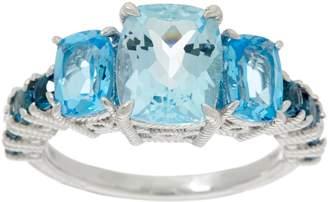 Judith Ripka Sterling Silver or 14K Clad Multi Gemstone Ring