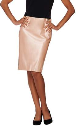 G.I.L.I. Got It Love It G.I.L.I. Petite Faux Leather Pencil Skirt with Zipper