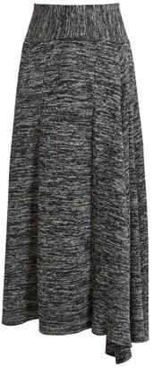 Bottega Veneta Melange Jersey Skirt - Womens - Grey Multi