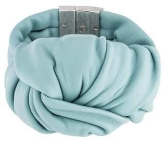 Celine Leather Knot Bracelet