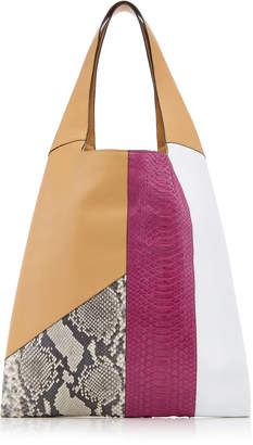 Hayward Leather And Python Grande Shopper