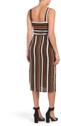 Juniors Australian Designer Tie Waist Dress