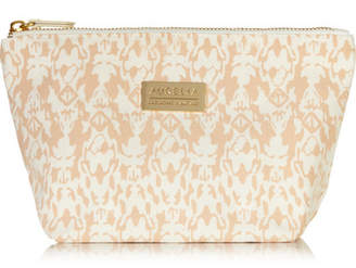 Aurelia Probiotic Skincare Signature Printed Cotton-canvas Cosmetics Case - Peach