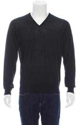 Giorgio Armani Long Sleeve V-Neck Shirt
