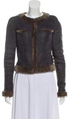 Chanel Zipped-Up Collarless Jacket