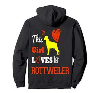 Dog Girl Rottweiler Hoodie For Special