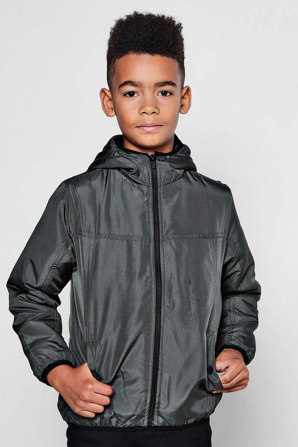 Boys Padded Hooded Zip Jacket