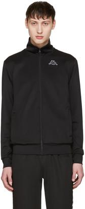 Gosha Rubchinskiy Black Kappa Edition Logo Sleeve Track Jacket $165 thestylecure.com