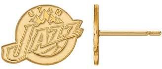 Logoart LogoArt NBA Utah Jazz 10kt Yellow Gold Stud Earrings