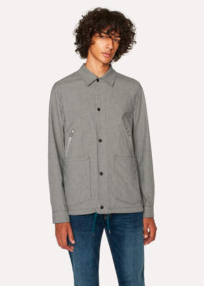 Paul Smith Men's Black And White Gingham Coach Jacket