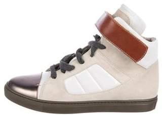Brunello Cucinelli Suede High-Top Sneakers