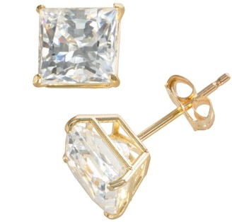 Swarovski Renaissance Collection 10k Gold 1 4/5-ct. T.W. Cubic Zirconia Princess Stud Earrings - Made with Zirconia