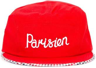 MAISON KITSUNÉ 'parisien' embroidered cap