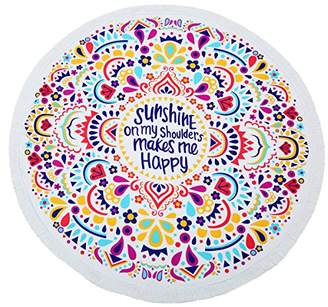 KING DO WAY Round Mandala Tapestry Soft Breathable Beach Mat Used as Yoga Mat Sunscreen Shawl Wrap Skirt Tassels Table Cover
