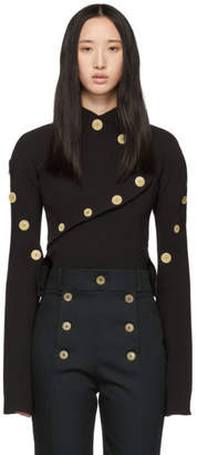 A.W.A.K.E. MODE Black Button-Up Blouse