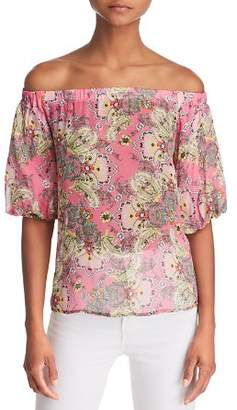Bailey 44 Tune In Floral Paisley Off-the-Shoulder Top