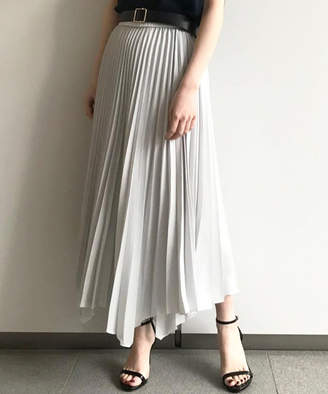 Loungedress (ラウンジドレス) - ラウンジドレス)レディース アンバランスヘムプリーツスカート