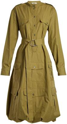 J.W.Anderson Pinstriped belted shirtdress