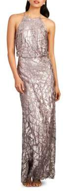 Donna Morgan Tiffany Embellished Halterneck Dress