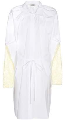 Nina Ricci Lace-trimmed cotton shirt dress