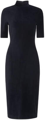 Whistles Velvet High Neck Jersey Dress