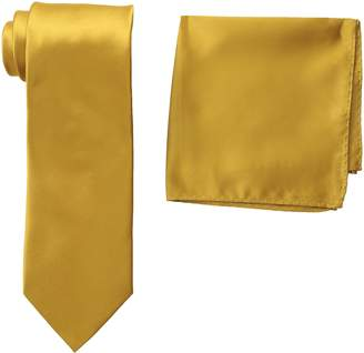 Stacy Adams Men's Satin solid Tie Set Extra Long