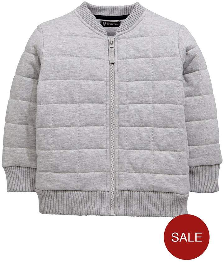 Mini V By Very Boys Quilted Fashion Zip Sweat