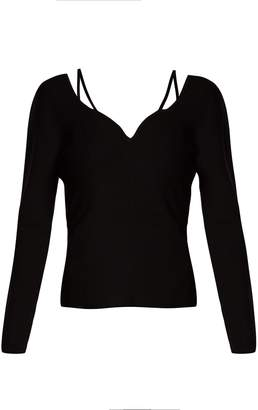 Berrima long-sleeve knitted top