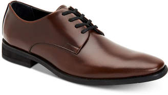 Calvin Klein (カルバン クライン) - Calvin Klein Men's Ramses Box Leather Textured Derby Shoes Men's Shoes