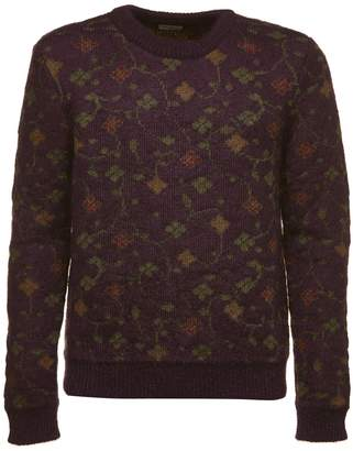 Saint Laurent Floral Jacquard Knit Sweater