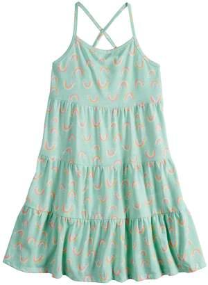 Girls 4-10 Jumping Beans Tiered Tank Dress