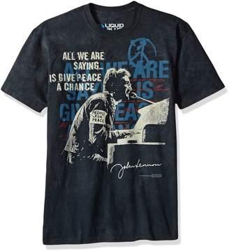 a4b542b0d5a Liquid Blue Unisex-Adult s John Lennon People for Peace Tie Dye Short  Sleeve T-